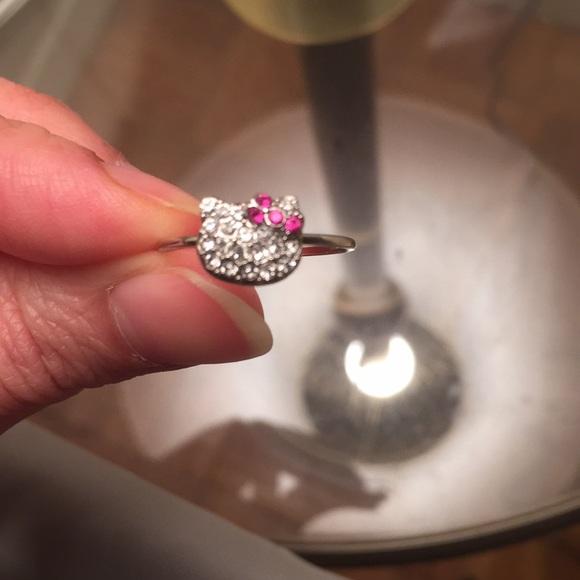 808d6de09 Jewelry | Hello Kitty Swarovski Ring Size 7 | Poshmark